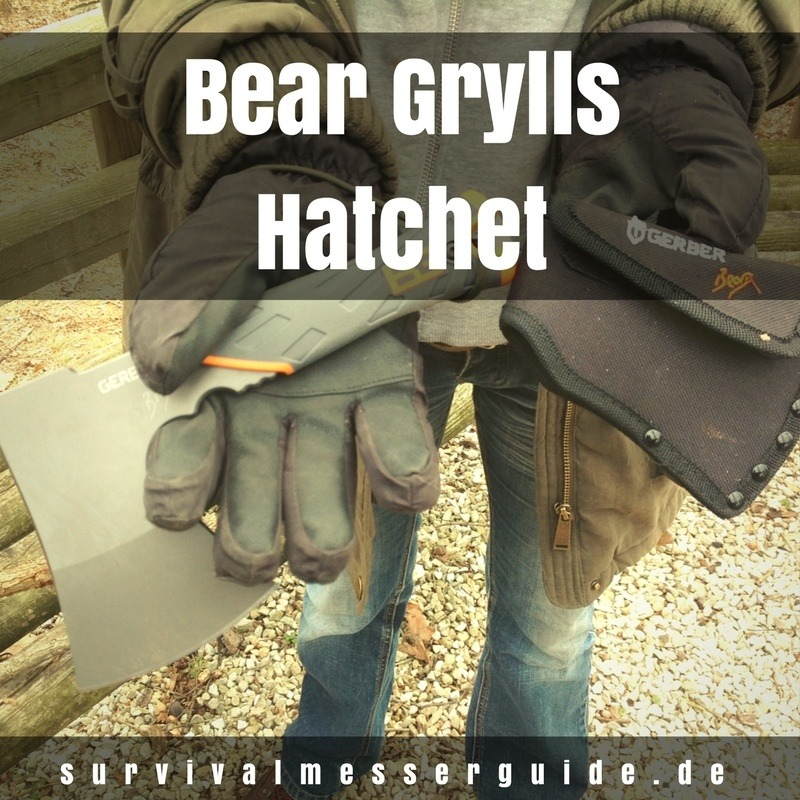 Gerber Bear Grylls hatchet test
