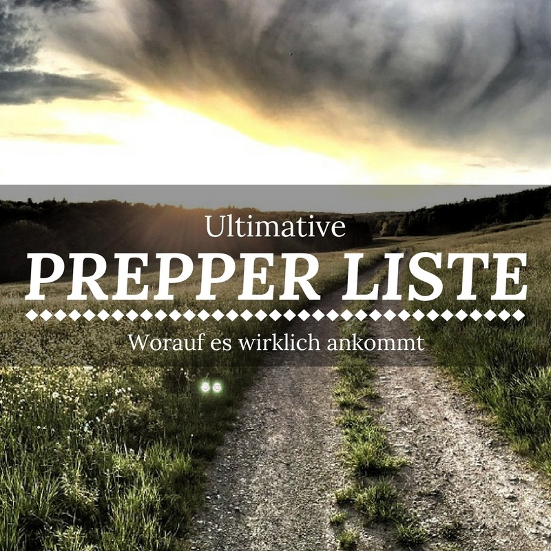 Die Ultimative Prepper Liste 2017
